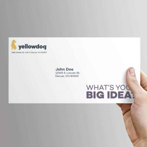 Yellowdog branded envelopes