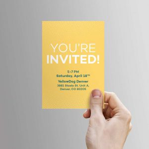 Yellowdog wedding invitation