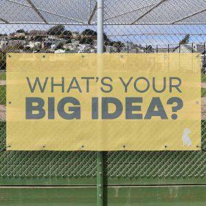 Yellowdog mesh banner on fence