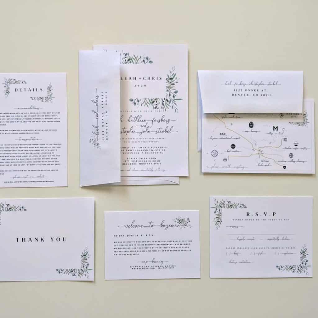 wedding print example