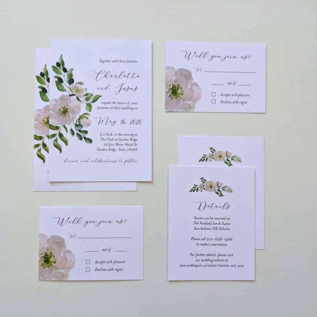 wedding print invitation suite