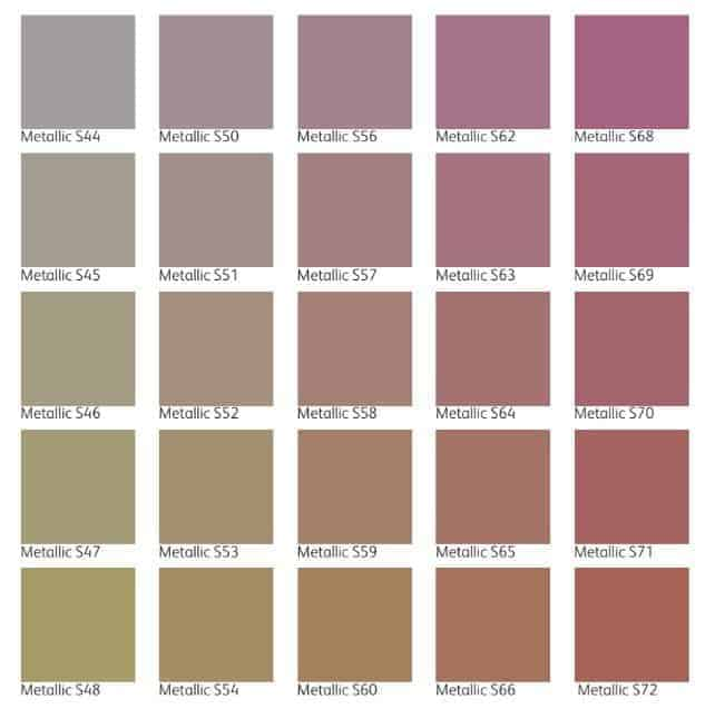 iridesse color chart