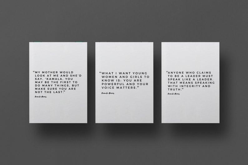 Kamala Harris Quote Cards