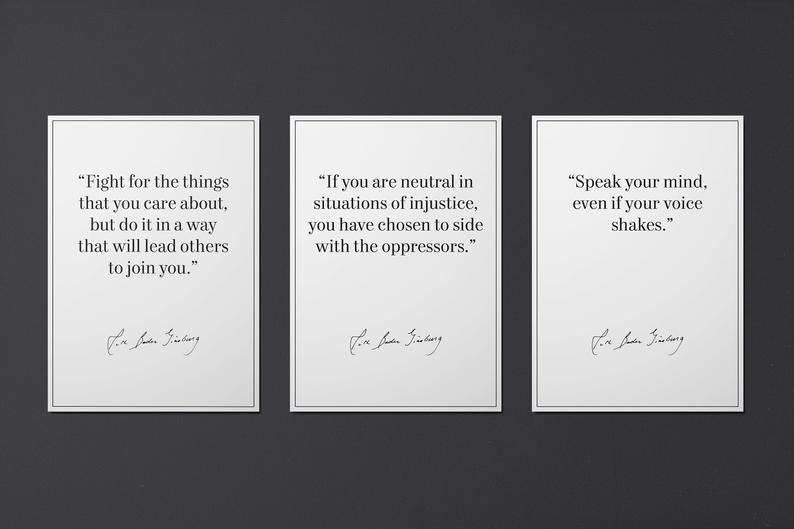 RBG Print Quotes