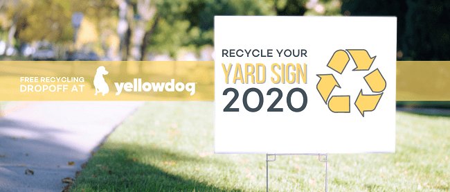 how to recycle yard signs in Denver