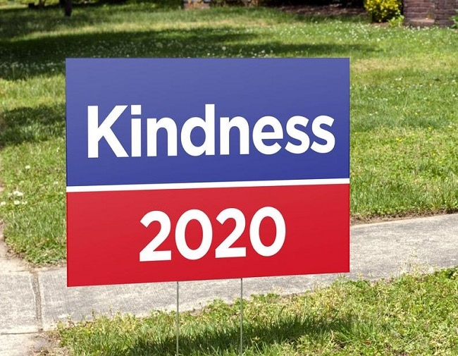 kindness 2020 yard sign