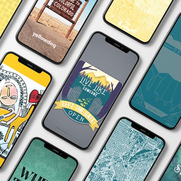 free phone wallpaper YellowDog