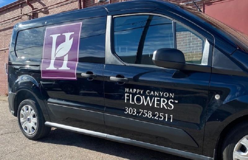 Happy Canyon Flowers van