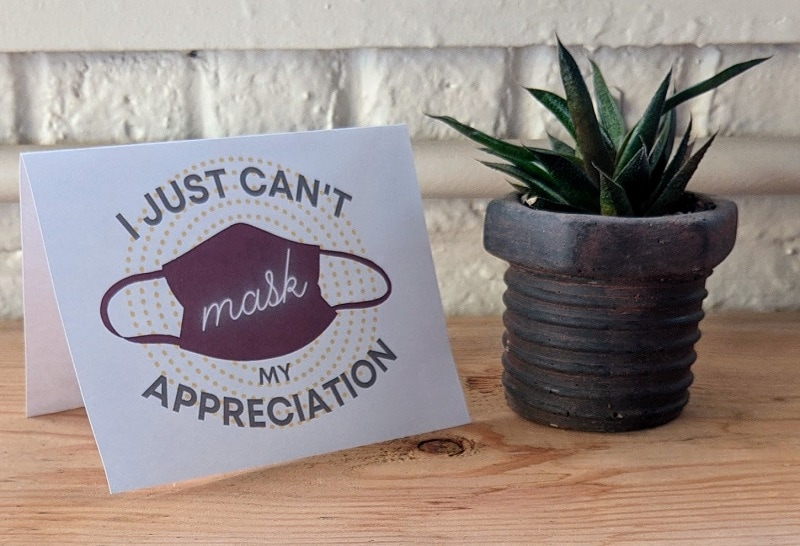 print a thank-you note