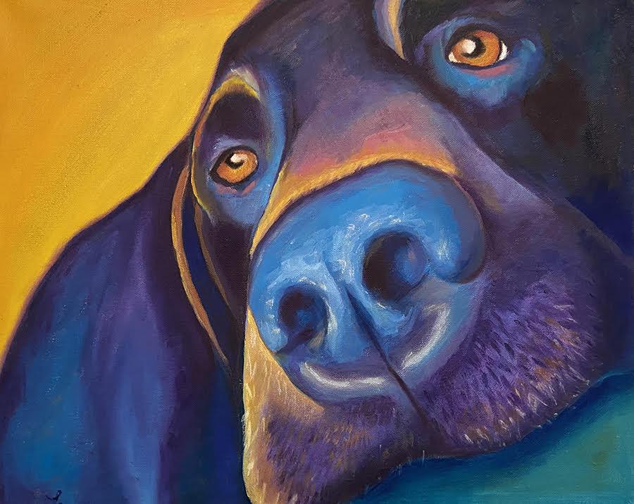 tasha rae designs dog portrait